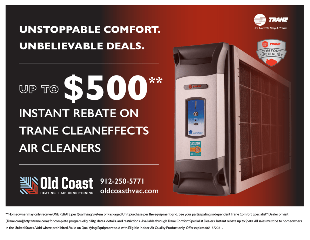 Trane Spring Promotion: up to 0 instant rebate on Trane CleanEffects Air Cleaners