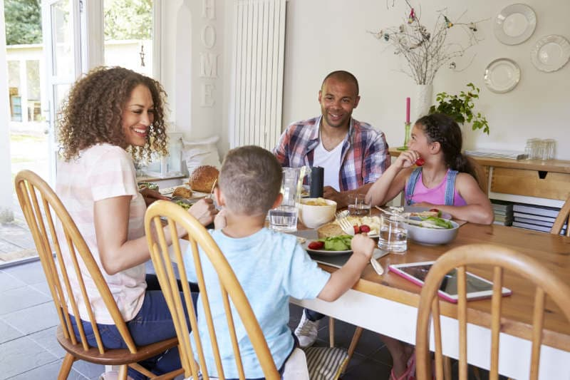 family around table clean air